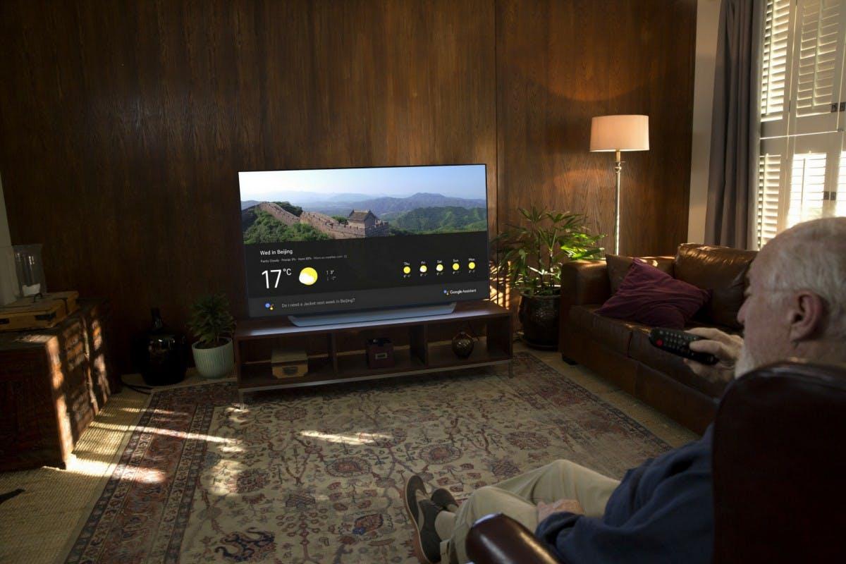 Der Google Assistant zieht in LG-Fernseher ein. (Bild. LG)