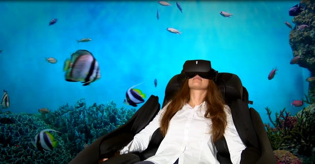 Entspannung 4.0: Massage-Sessel mit Virtual Reality