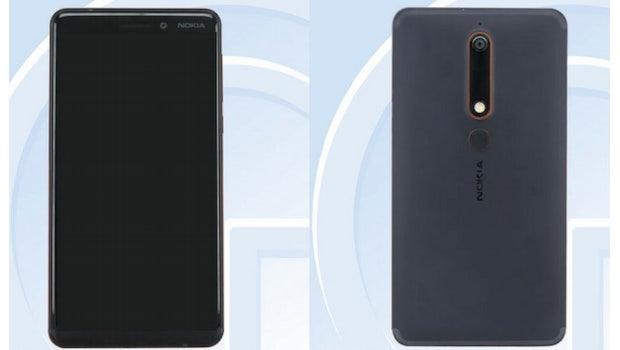 Das Nokia 6 (2018). (Bild: Tenaa)