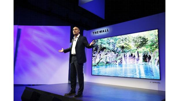 """Samsung """"The Wall"""" – ein modular aufgebauter Fernseher.  (Foto: Samsung)"""