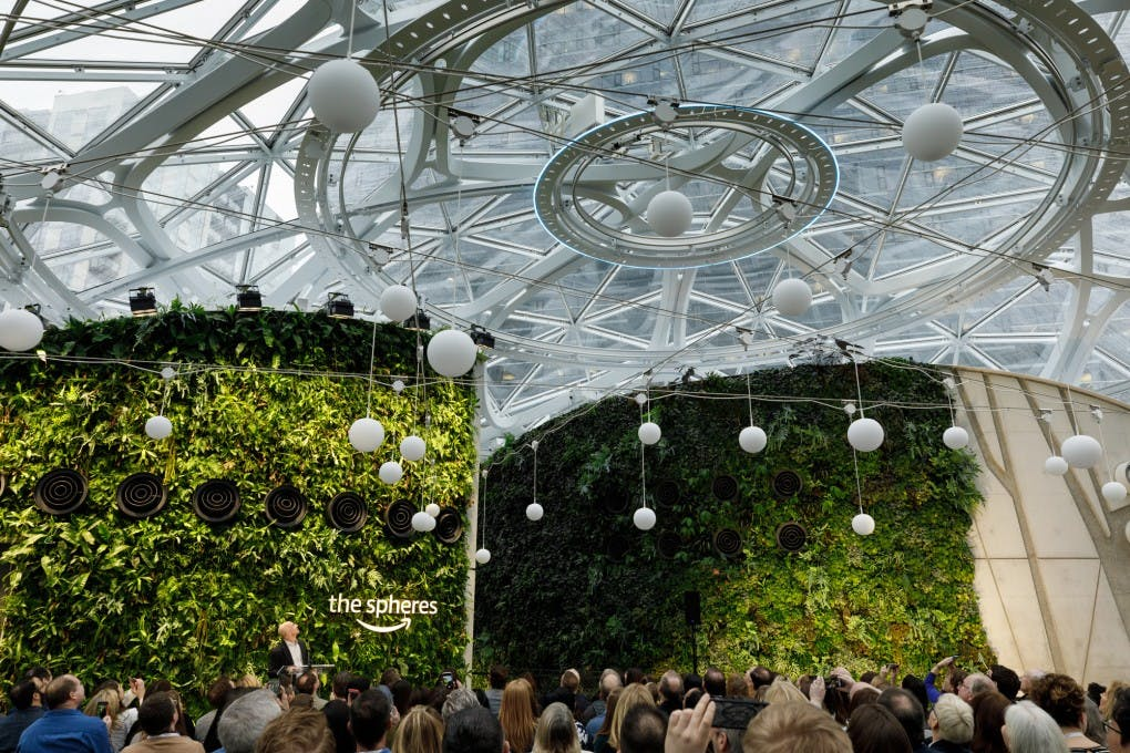 Futuristisches neues Amazon-Hauptquartier The Spheres offiziell eröffnet. (Bild: Amazon)