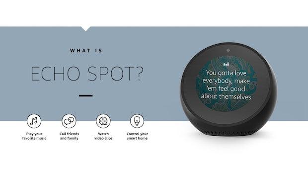 Echo Spot kann alles, was der Echo Show kann. (Bild Amazon)