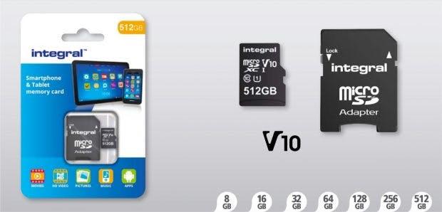 Die Micro-SD-Karten von Integral gibt es in Größen von 8 bis 512 Gigabyte. (Bild: Integral)