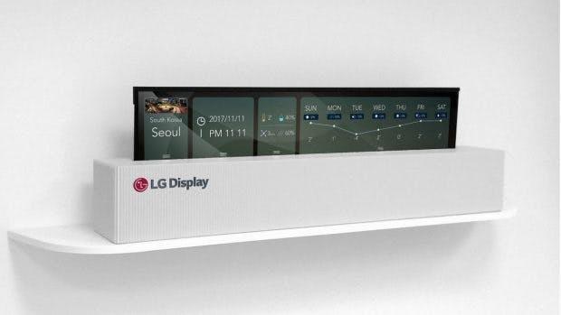 LG zeigt aufrollbaren OLED-TV. (Bild: LG Display)