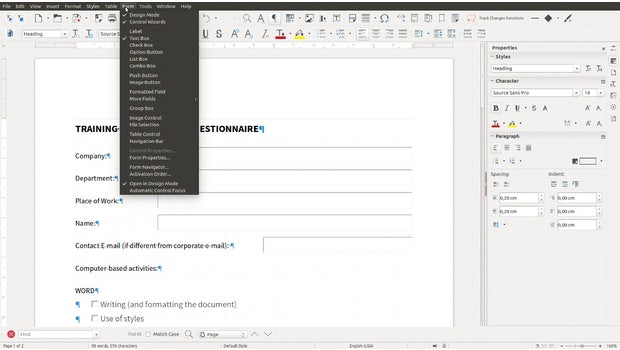 (Screenshot: Libreoffice 6.0)