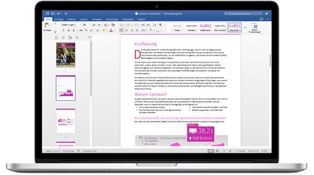 Office für Mac zieht dank großem Update mit Windows-Version gleich