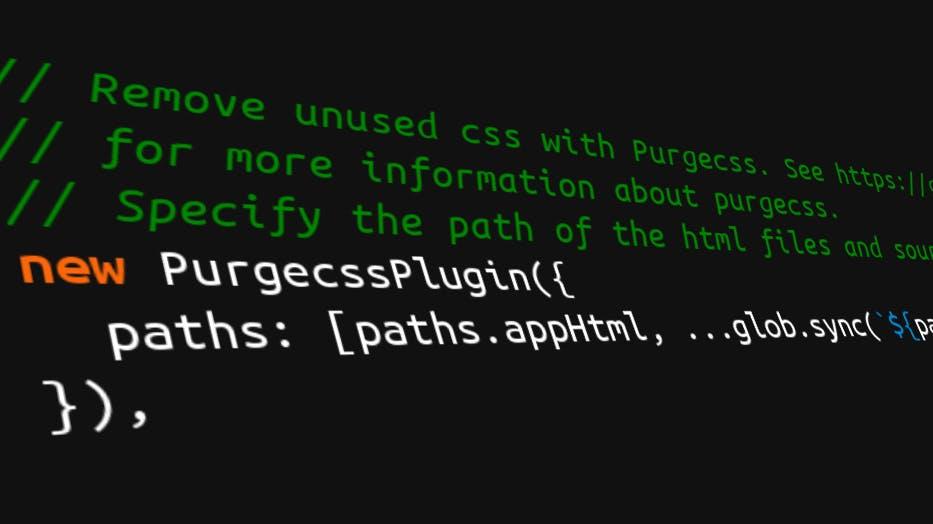 PurgeCSS spürt ungenutztes CSS auf