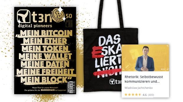 """t3n-Abo inklusive Udemy-Kurs """"Rhetorik: Selbstbewusst kommunizieren und überzeugen!"""""""