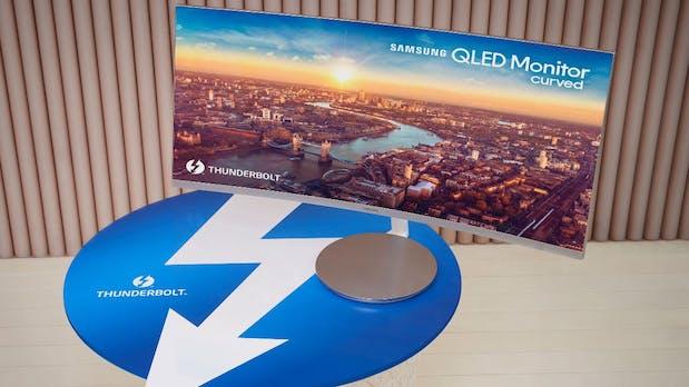 Samsung stellt ersten QLED-Curved-Monitor mit Thunderbolt 3 vor