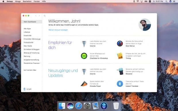 Die Setapp-App ist ein eigener kleiner App-Store und empfiehlt Nutzern Programme. (Bild: Setapp)