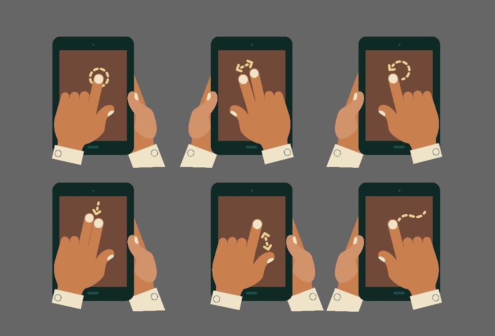 In-App-Gesten können vielseitig eingesetzt werden. (Grafik: Shutterstock-izabel.l)