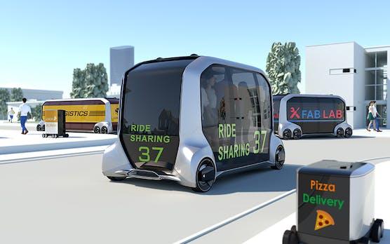Toyota E-Palette: Selbstfahrender E-Shuttle-Bus und mobiler Shop in einem