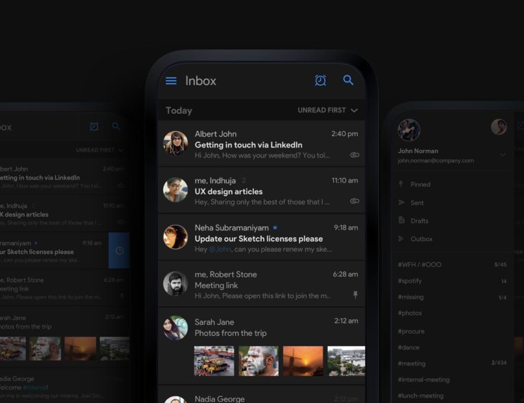 (Screenshot: Behance.net / New Gmail Concept)