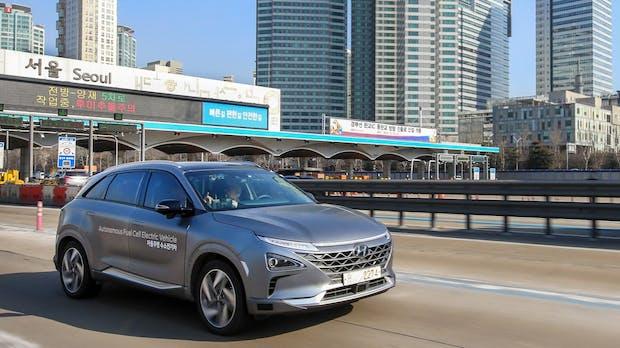 Selbstfahrender Hyundai mit Wasserstoffzellenantrieb fährt 190 Kilometer