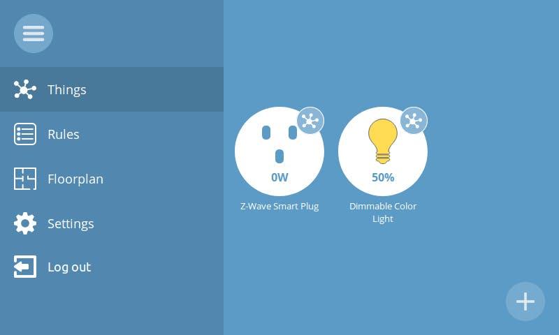 Was Web-Interface des Things Gateway.  (Screenshot: Mozilla)