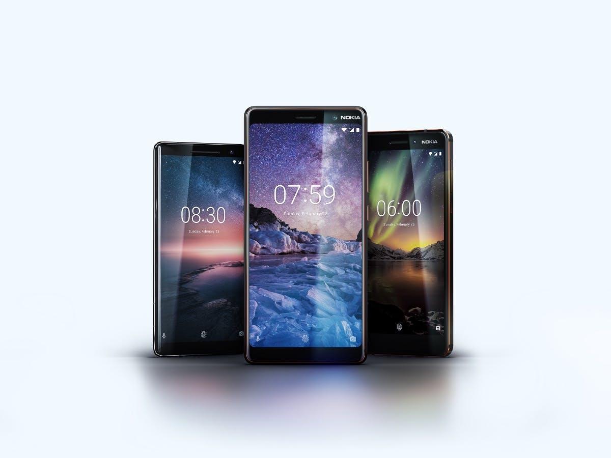 Nokia 6, 7 Plus und 8 Sirocco offiziell: Neue HMD-Smartphones mit Android One
