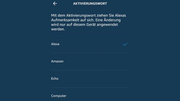 """Amazon Echo könnt ihr auch mit """"Computer"""" ansprechen. (Screenshot: t3n)"""