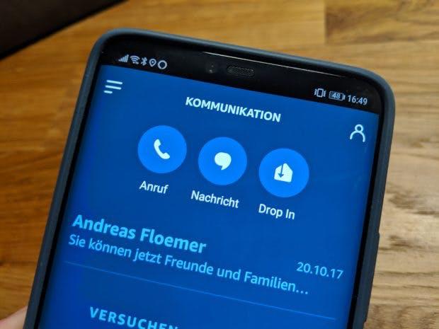 Drop-in und mehr: Alexa kann auch als Kommunkationszentrale genutzt werden. (Foto: t3n.de)