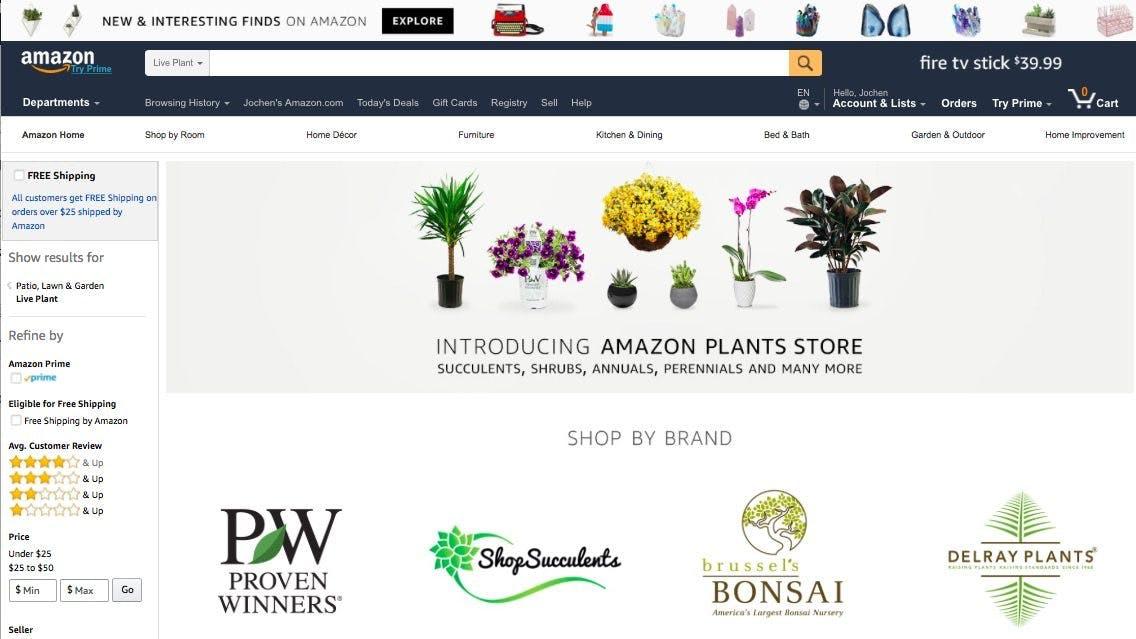 Der neue Plants-Store: Jetzt gibt's auch Bäume, Büsche und Blumen bei Amazon