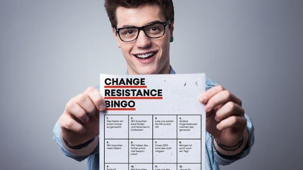 Wenn du das nächste Mal in ein Meeting gehst, spiele Change-Resistance-Bingo