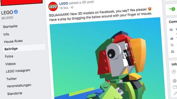 Facebook baut Unterstützung für 3D-Inhalte im Newsfeed aus