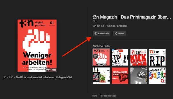 """Gegen Bilderklau: Google entfernt den """"Bild ansehen""""-Button aus der Bildersuche"""