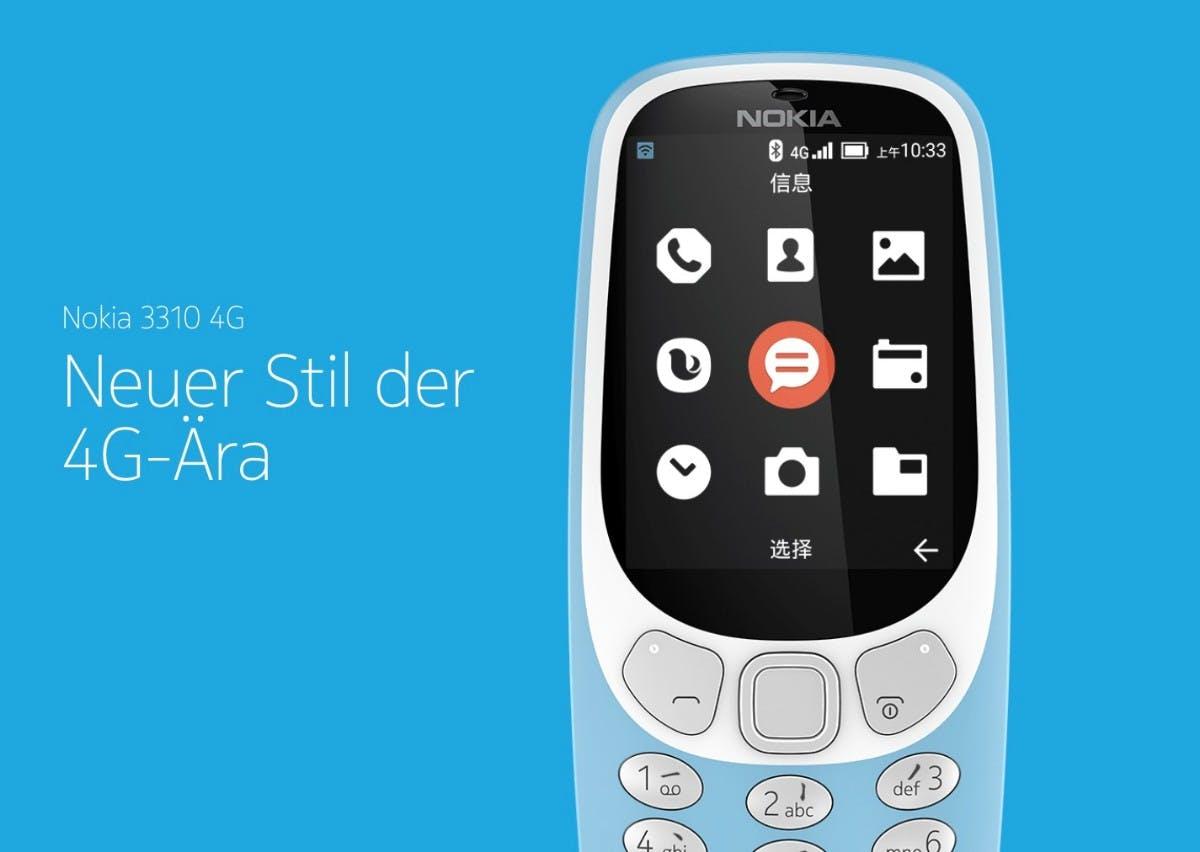 Nokia 3310 4G. (Bild: HMD Global)