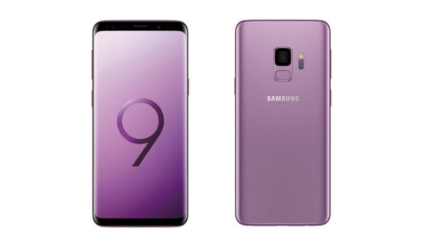 "Das Samsung Galaxy S9 in Lilac Purple. (Bild: <a href=""https://twitter.com/evleaks/status/965573354634862592/photo/1"">Evleaks</a>)"