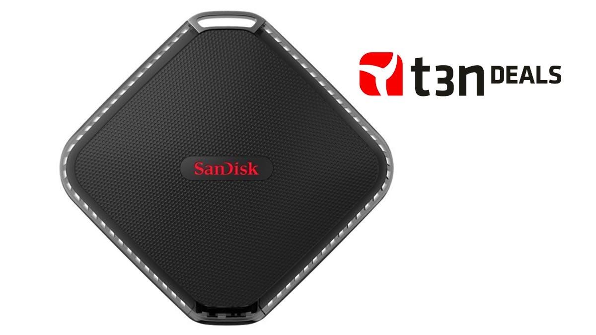 t3n-Deal des Tages: Sandisk Extreme 500 Portable SSD mit 500 Gigabyte Speicherplatz für 114,99 Euro!
