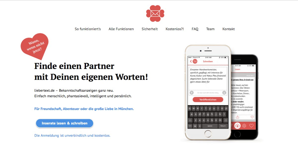 Texte partnersuche anzeigen