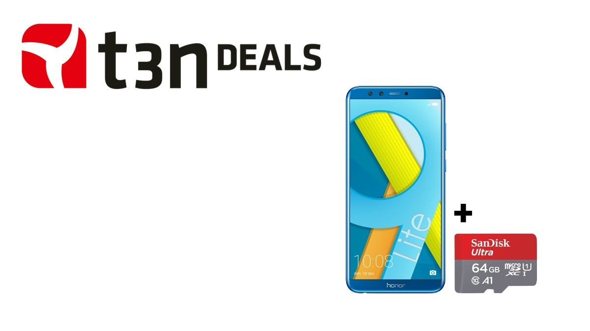 t3n-Deal des Tages: Honor 9 Lite mit insgesamt 96 Gigabyte Speicher heute für nur 230 Euro!