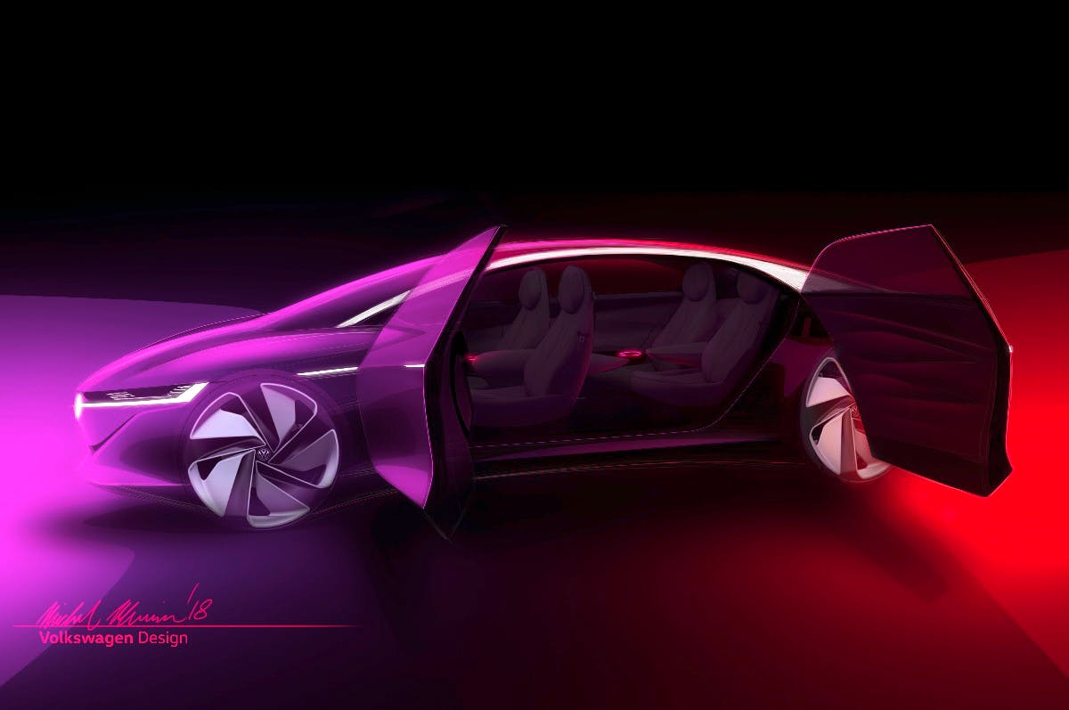 VW I.D. Vizzion: Neues Konzept zeigt selbstfahrende Elektro-Limousine
