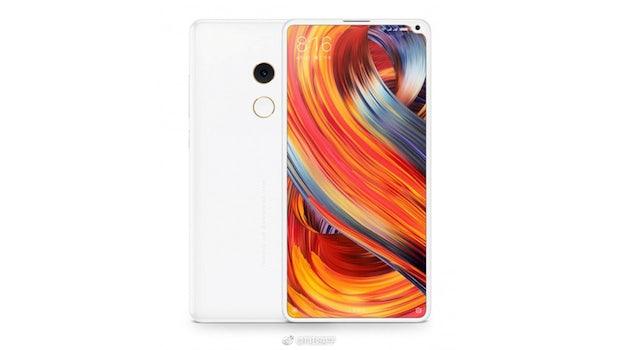 """""""Notch"""" an der Seite: So soll das Xiaomi Mi Mix 2s aussehen. (Bild: Weibo)"""