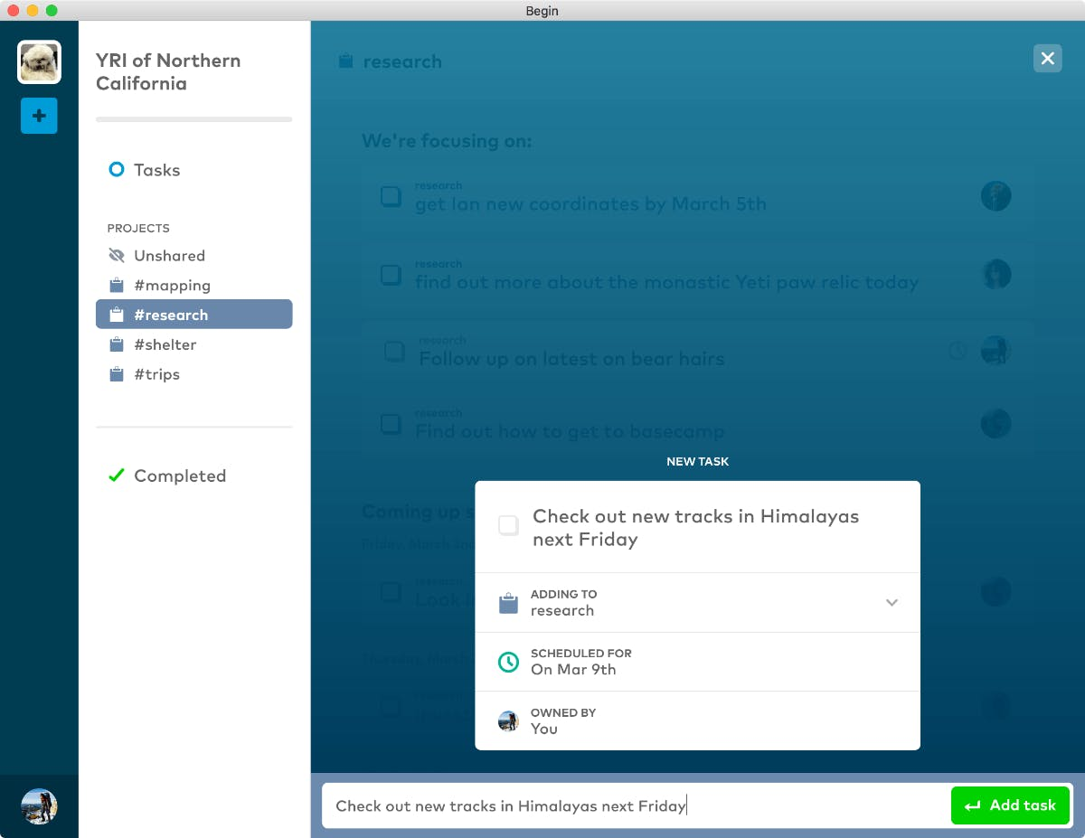 Begin: Mit diesem Tool wird Slack zur To-do-Liste