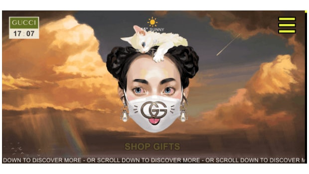 (Screenshot: gift.gucci.com)
