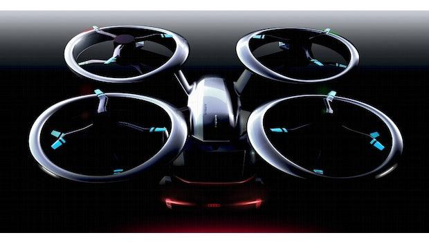 Pop-Up Next: Roboauto und Drohne von Audi, Italdesign und Airbus. (Bild: Italdesign)