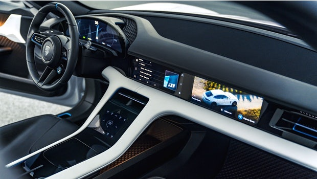 Neue Bedienelemente mit Eye-Tracking im Porsche Mission E Cross Turismo. (Bild: Porsche)