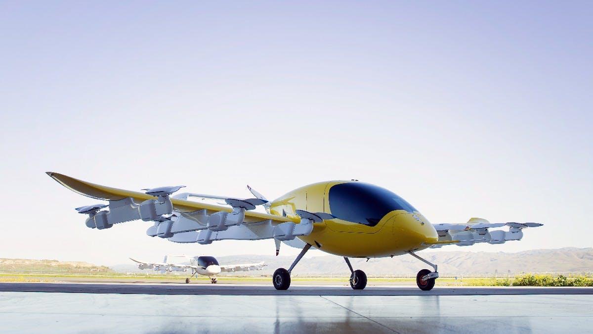 Das Flugtaxi von Google-Gründer Larry Page. (Foto: Kitty Hawk)