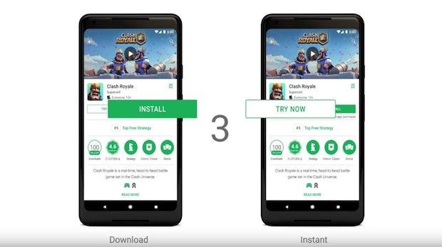 Google-Play-Instant gestartet: Apps testen, ohne sie zu installieren