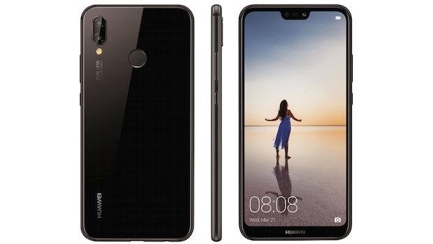 So wird das Huawei P20 Lite aussehen. (Bild: Evleaks)