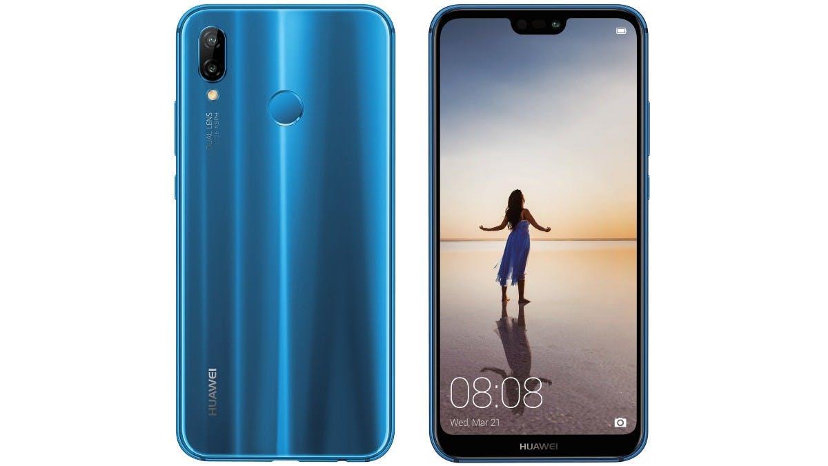 Das Huawei P20 Lite hat den Fingerabdrucksensor auf der Rückseite. (Bild: Huawei)