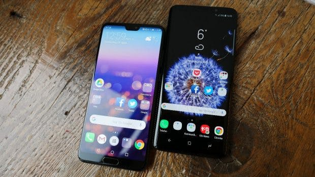 Huawei p20 pro versus samsung galaxy s9 plus: android smartphone
