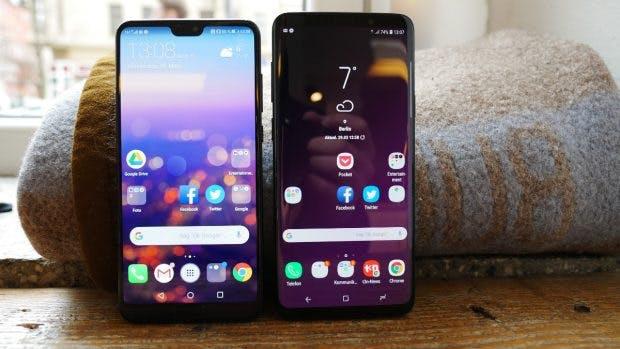 Huawei P20 Pro vs Samsung Galaxy S9 Plus. (Foto: t3n.de)