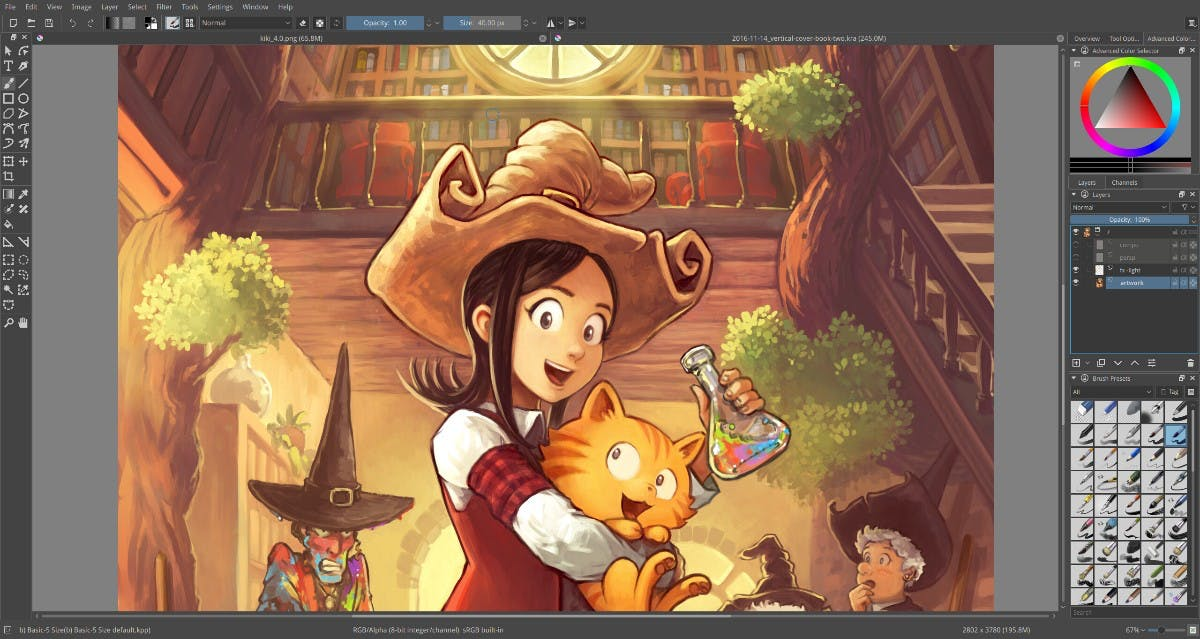 (Screenshot: Krita 4.0/t3n.de)