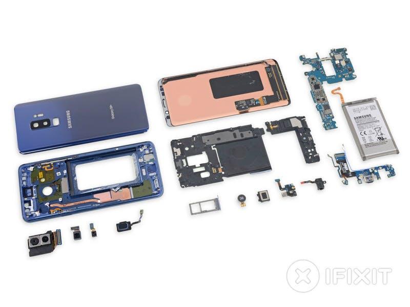 Samsung Galaxy S9 im Teardown: Modulares Inneres, verklebtes Display