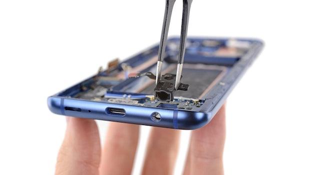 Das Samsung Galaxy S9 (Plus) ist modular aufgebaut - die meisten Komponenten lassen sich leicht auswechseln. (Foto: iFixit)