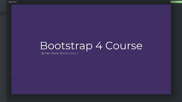 Coden mit einem Framework: Dieser Kurs bringt dir Bootstrap 4 bei