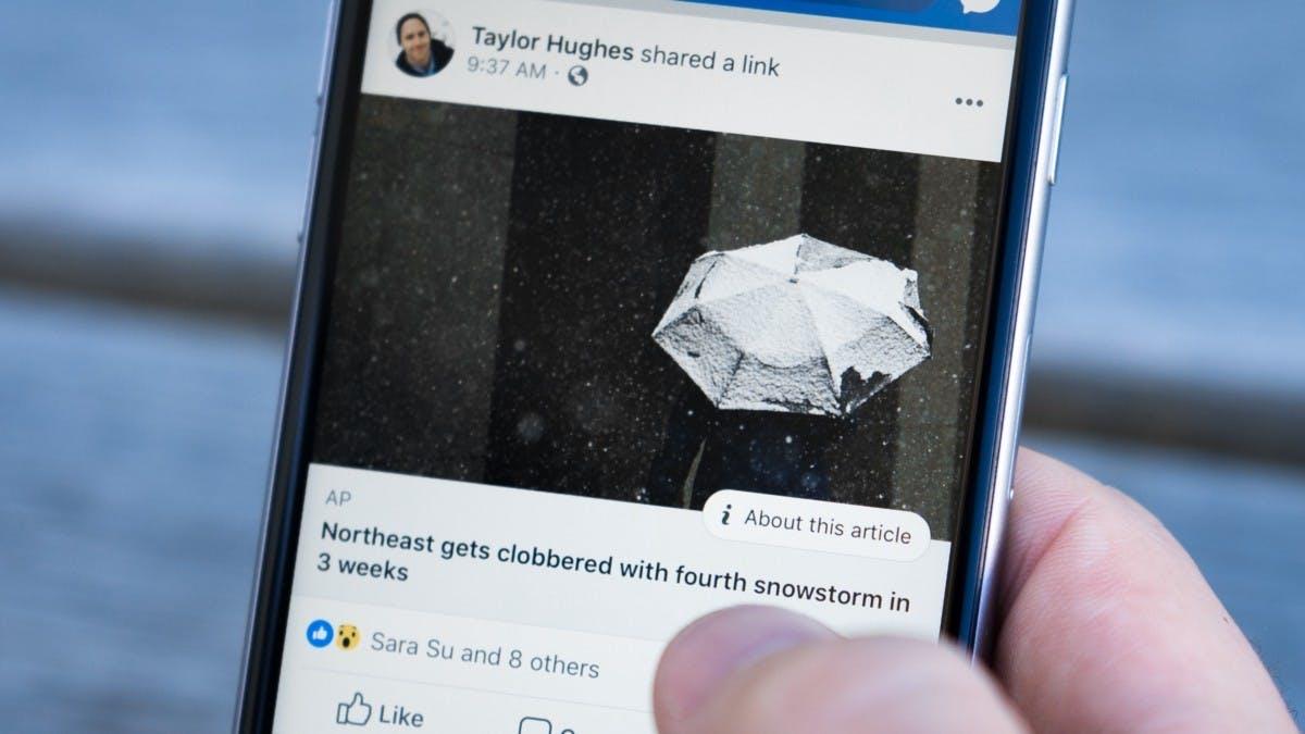 Auch Facebook will Fake News mit Wikipedia-Links bekämpfen