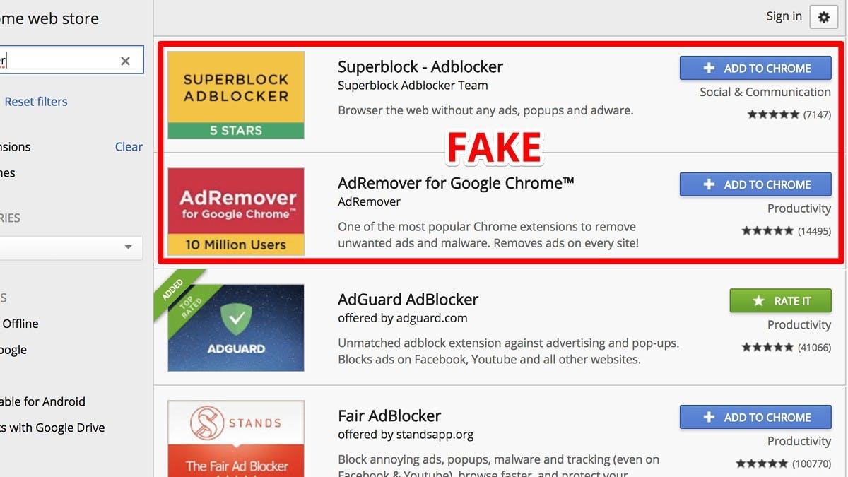 Fake-Werbeblocker haben bis zu 20 Millionen Chrome-Nutzer ausspioniert