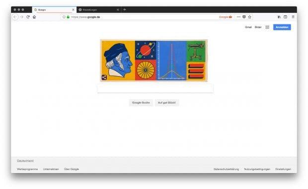 Mit dem Firefox-Addon läuft Google in einer eigenen Umgebung. Deutlich wird das über die Anzeige der Google-Tab-Umgebung in der Adressleiste. (Screenshot: Firefox / t3n)
